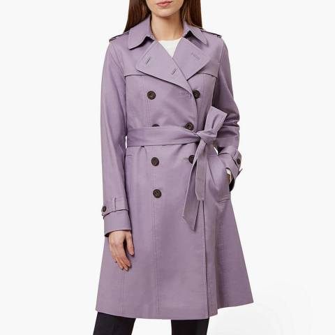 Hobbs London Lilac Saskia Trench Coat
