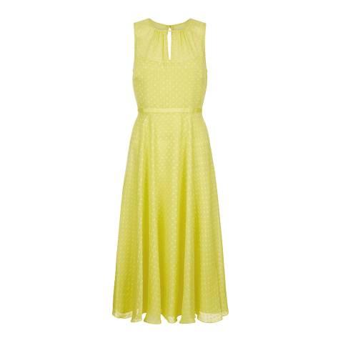 Hobbs London Yellow Emma Dress