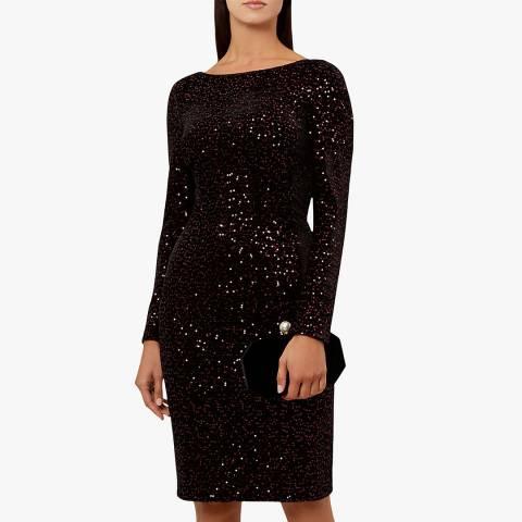 Hobbs London Plum Sequin Sawyer Dress