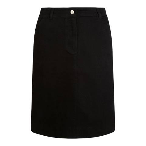 Hobbs London Black Bronte Denim Skirt