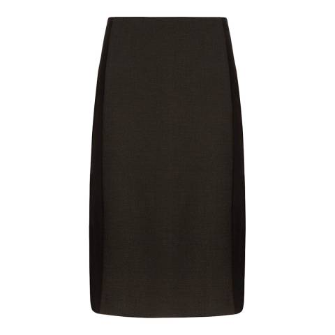 Hobbs London Khaki/Black Miranda Skirt