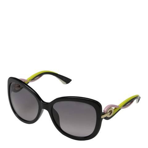 Dior Women's Black/Lime Dior Sunglasses 60mm