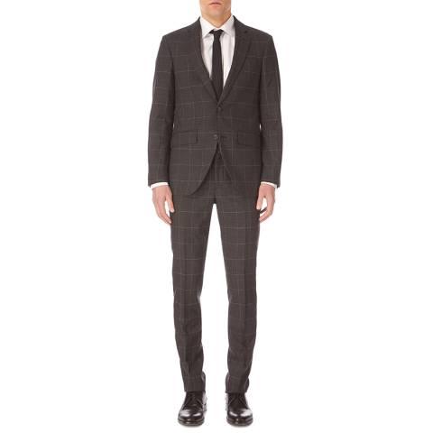 Hackett London Charcoal Mayfair Fine Windowpane Suit