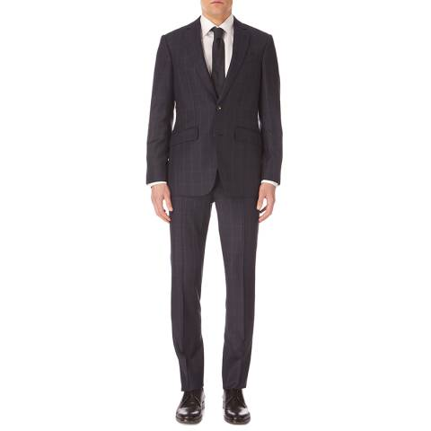 Hackett London Navy Check Mayfair Birdseye Suit