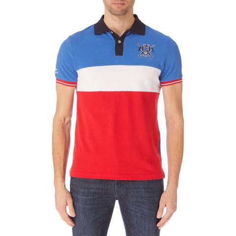 Hackett London Blue/Red Union Polo Shirt