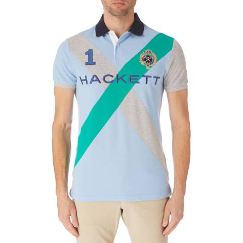 Hackett London Blue Cross Polo Shirt