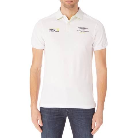Hackett London White Aston Martin Contrast Polo Shirt
