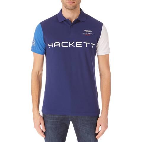 Hackett London Navy Aston Martin Polo Shirt