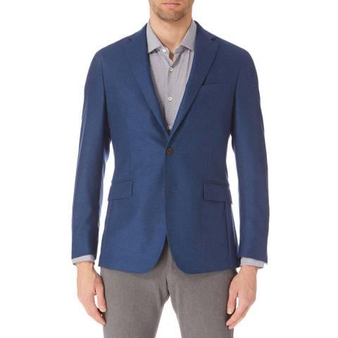 Hackett London Blue Mayfair Flannel Jacket