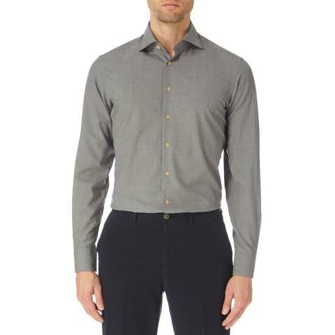 Hackett London Grey Mayfair Superfine Cotton Shirt
