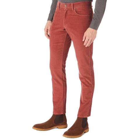 Hackett London Burgundy Cord Cotton Stretch Trousers