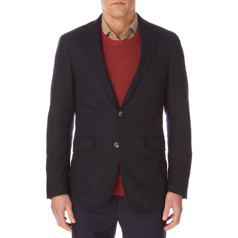 Hackett London Navy Knitted Blazer