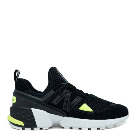 New Balance Black & Green 574 Sport Sneakers