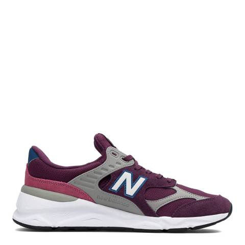 New Balance Purple & White X-90 Sneakers
