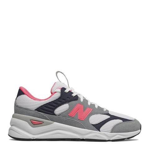 New Balance White, Pink & Grey X90 Sneakers
