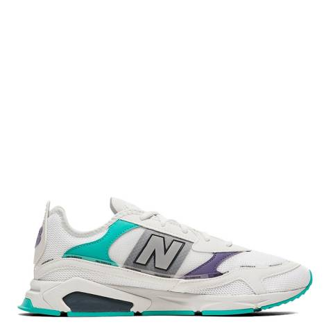 New Balance White & Multi X-Racer Sneakers