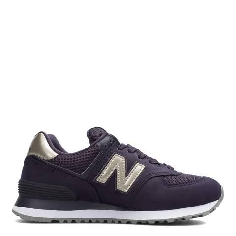 New Balance Purple 574 Core Sneakers