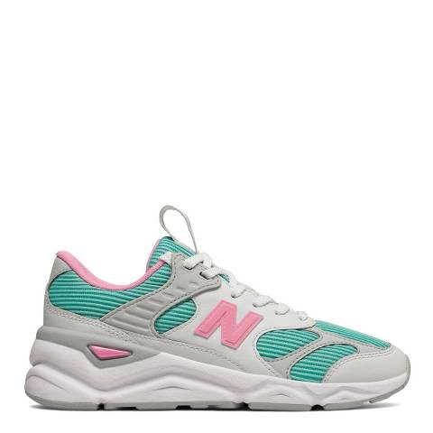 New Balance White & Multi X-90 Reconstructed Sneakers