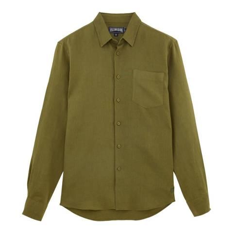 Vilebrequin Khaki Linen Shirt