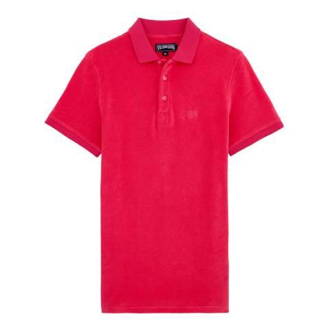 Vilebrequin Magenta Cotton Blend Polo Shirt