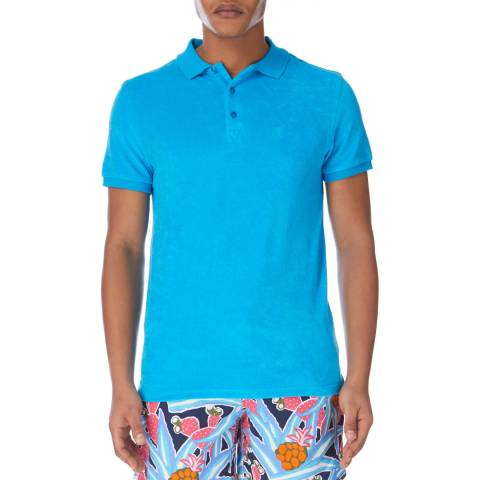 Vilebrequin Blue Fitted Short Sleeve Polo