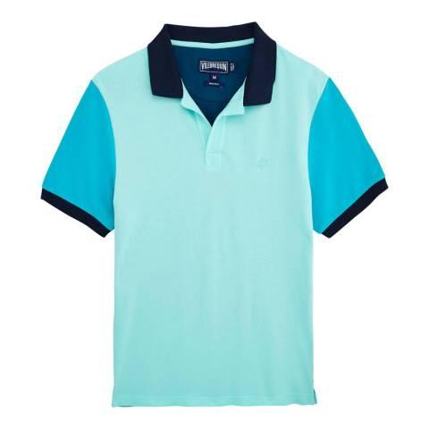Vilebrequin Blue/Multi Cotton Polo Shirt