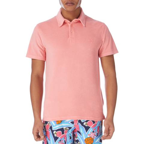 Vilebrequin Orange Fitted Short Sleeve Polo