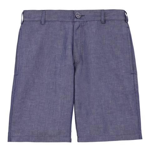 Vilebrequin Denim Blue Cotton/Linen Shorts