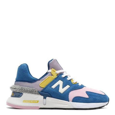 New Balance Blue & Pink 997 Sport Sneakers
