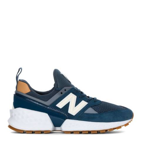 New Balance Navy & Brown 574 Sport Sneakers