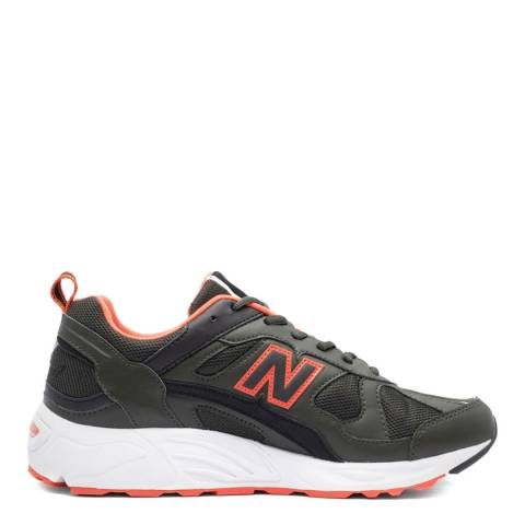 New Balance Olive Green & Orange 878 Sneakers