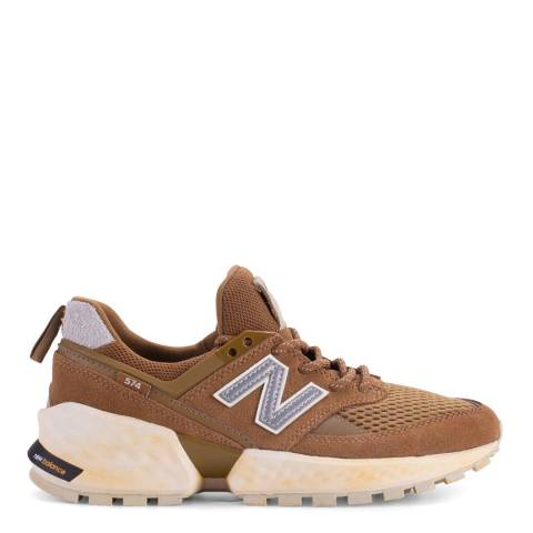 New Balance Brown 574 Sport Sneakers