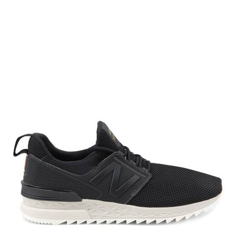 New Balance Black 574 Sport Deconstructed Sneakers