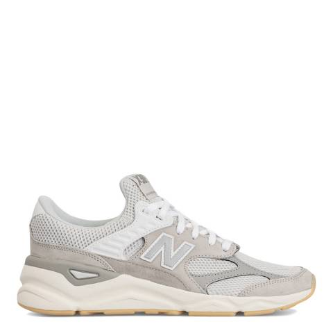 New Balance Light Grey X-90 Reconstructed Sneakers