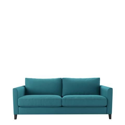 sofa.com Izzy 3 Seat Sofa in Cyan Smart Linen