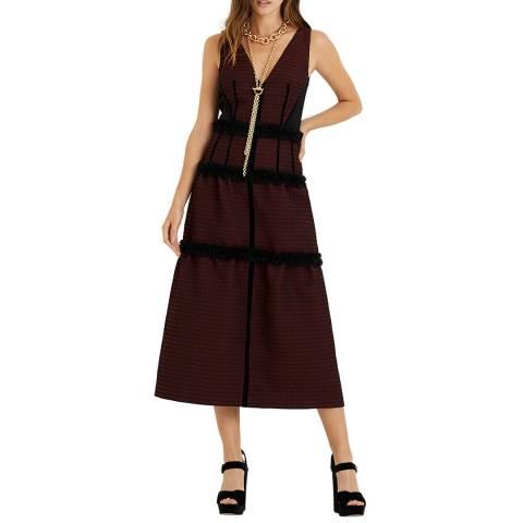 Amanda Wakeley Berry Jacquard Cocktail Dress