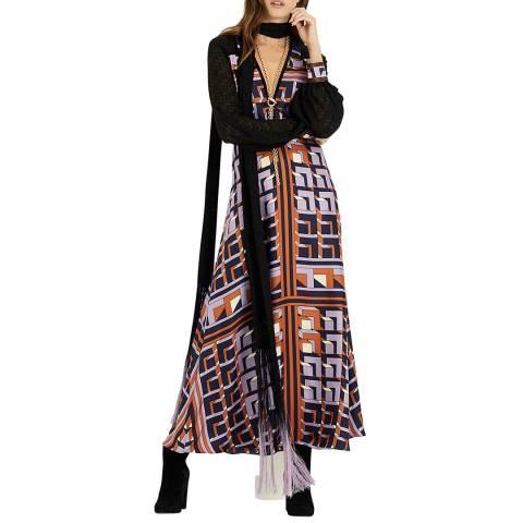Amanda Wakeley Multi Printed Midi Silk Dress