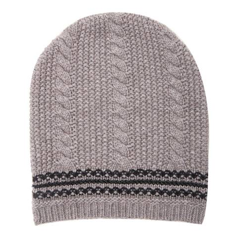 Amanda Wakeley Taupe Cable Knit Hat