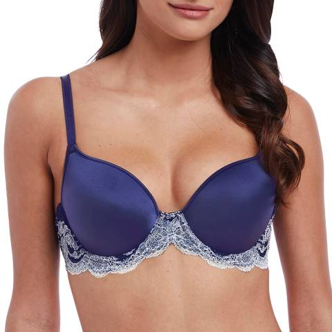 Wacoal Patriot Blue / Halogen Blue Lace Affair Contour Bra