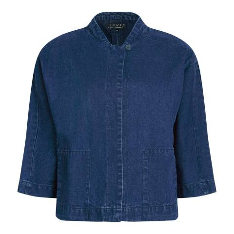 Seasalt Portholland Jacket Mid Indigo Wash
