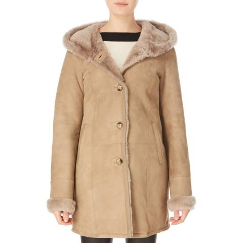 Shearling Boutique Brown Merino Sheepskin Coat