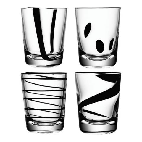 LSA Set of 4 Assorted Jazz Tumblers, 250ml