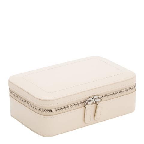 WOLF Ivory Leather Sophia Zip Case