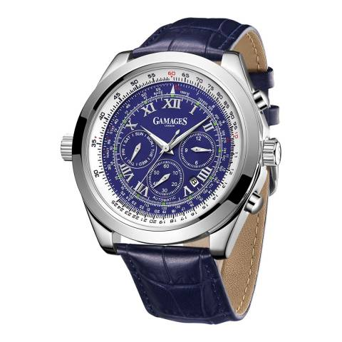 Gamages of London Men's Blue Automatic Watch