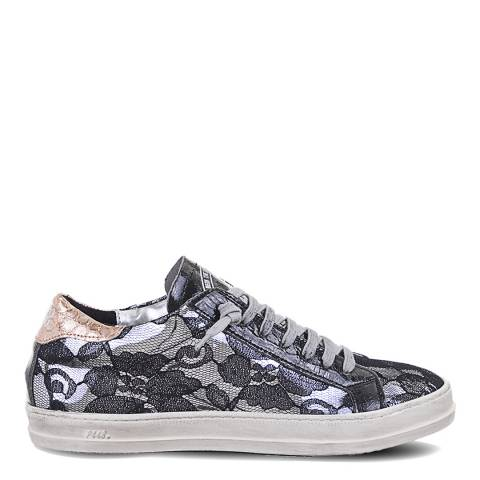 P448 Black Floral Lace John Sneakers