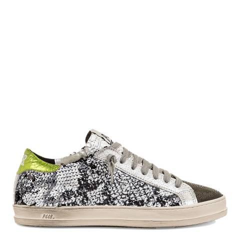 P448 Black & Silver Sequin John Sneakers