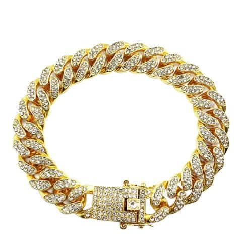 Stephen Oliver 18K Gold CZ Link & Clasp Bracelet