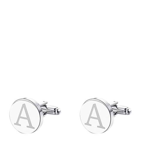 """Stephen Oliver Silver Initial """"A"""" Cufflinks"""