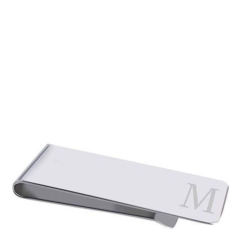 "Stephen Oliver Silver Initial ""M"" Money Clip"