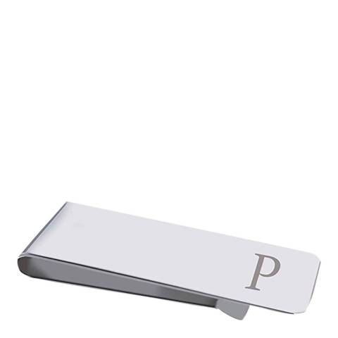 "Stephen Oliver Silver Initial ""P"" Money Clip"